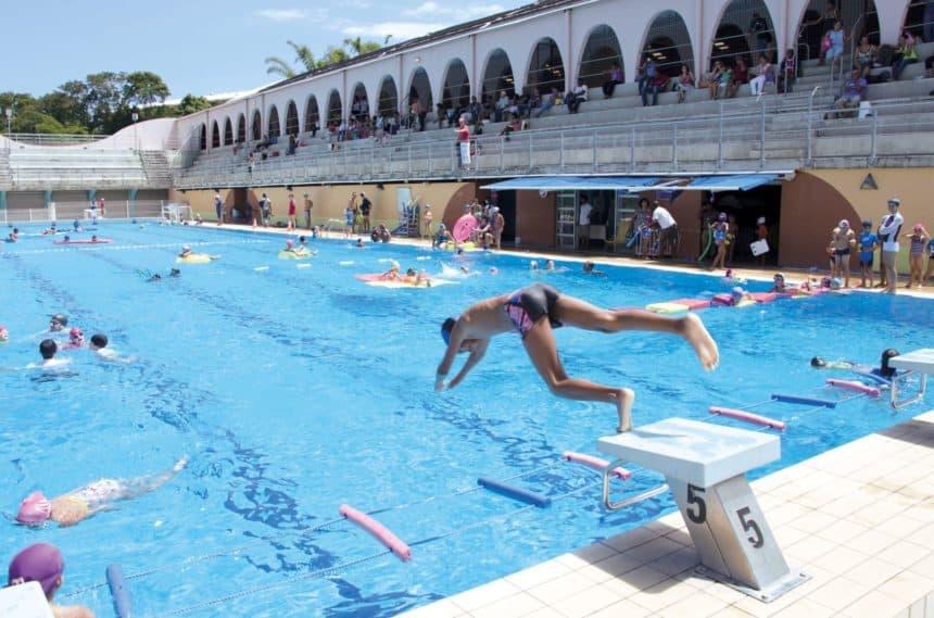 Ouverture de la piscine de Duparc et Flacourt
