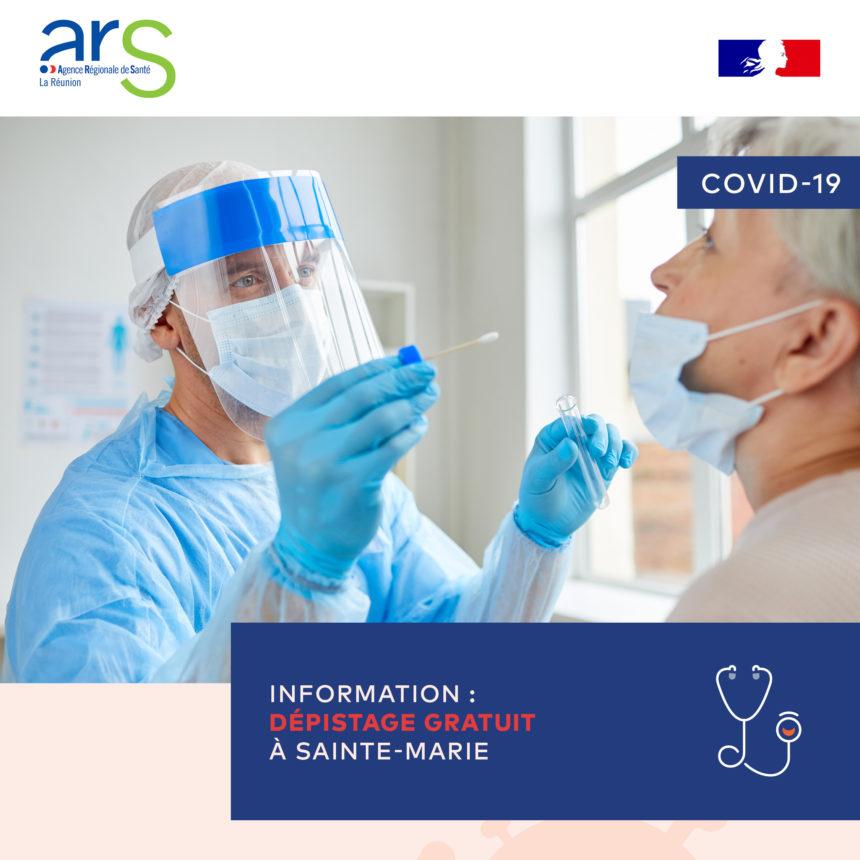 Opération dépistage COVID-19 Vendredi 12 Mars de 9h00 à 11h30
