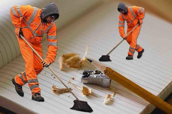 Info : travaux de nettoyage de l'ancienne place de marché forain.