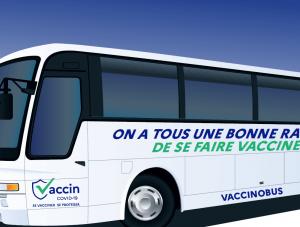 Le Vaccinobus poursuit sa tournée à La Réunion et du 20 au 23 juillet au Leclerc de la Réserve .