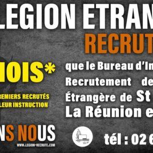 Légion Etrangère : Avis de recrutement
