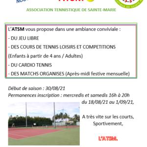 Un nouveau club de tennis à Sainte-Marie